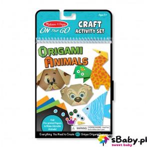 Origami z naklejkami - Zwierzątka, 5+, Melissa&Doug
