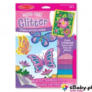 Naklejki z Brokatem - Motyle i kwiaty, 5+, Melissa&Doug