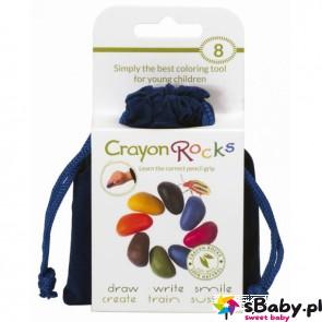 Kredki Crayon Rocks w aksamitnym woreczku - 8 kolorów, 3+, Crayon Rocks
