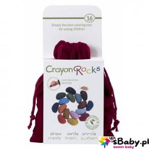 Kredki Crayon Rocks w aksamitnym woreczku - 16 kolorów, 3+, Crayon Rocks
